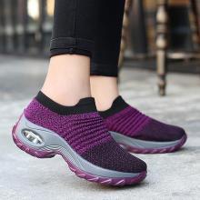 Women breathable mesh slip-on air cushion casual sneaker shoes