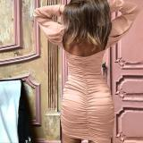 Sexy Off-the- Shoulder And Long Sleeve Dress