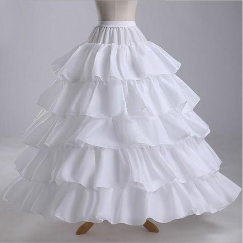 4 Hoops 5 Layers Wedding Petticoat Underskirt Ball Gown Ruffles Women Petticoat Crinoline Bridal Wedding Accessories