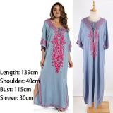 Maxi Boho Dress, Beach Dress,  Embroidered Dress, Raya (3 colors)
