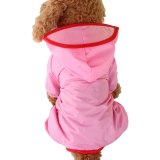 Summer Outdoor Puppy Pet Rain Coat XS-XXL Waterproof Jackets PU Raincoat for Dogs Cats Apparel Clothes