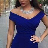 Elegant Retro One Shoulder Fishtail Evening Dress