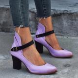 Women Point Toe Buckle Strap Adjustable Sandals