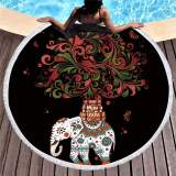 Mandala Tapestry Round Large 150cm Soft Beach Towel For Adults Wall Hanging Microfiber Bath Towel With Tassel Throw Yoga Mat