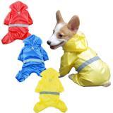 Pet Dog Waterproof Raincoat Jumpsuit Reflective Rain Coat Breathable Mesh Dog Outdoor Clothes Jacket for Small Dog Pet Supplies