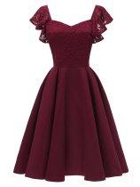 1950S Satin Solid Swing Dress