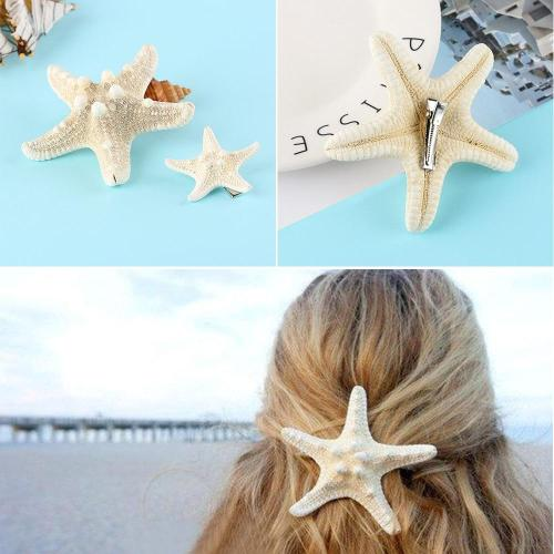 1/2 Pcs  Fashion Lady Hair Clips Women Girls Elegant Starfish Sea Star Hairpins Girls Summer Beach Barrettes Hair Accessories