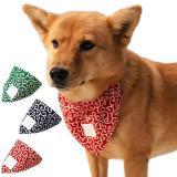 Dog Triangular Bandage Tang Grass Pattern Bandana Collar Scarf Cotton Dog Accessories For Shiba Inu Chihuahua Large
