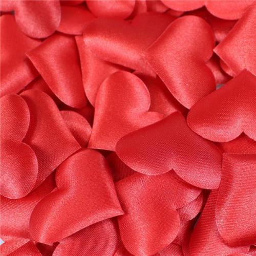 100pcs/bag 3cm Heart Shape Petals Wedding Valentines Day Throwing Table Decoration