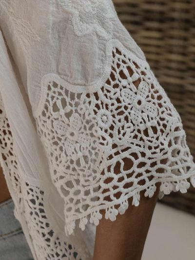 Irregular Lace Butterfly Bandage Hollow Cover Ups