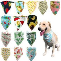 1pcs Dog Bandanas Customizable Puppy Cat Dog Bandana/Bibs Large Dog Scarf Cotton Fruit Dog Accessories  for Summer Pet Supplies
