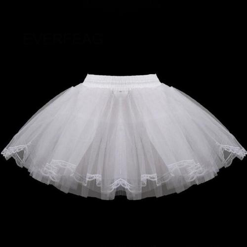 3 Layers Hoopless Petticoat Children Short Petticoats Flower Girl Dress Crinoline for Wedding Party Underskirt
