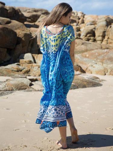 Bohemia Printed Covers-ups Swimwear