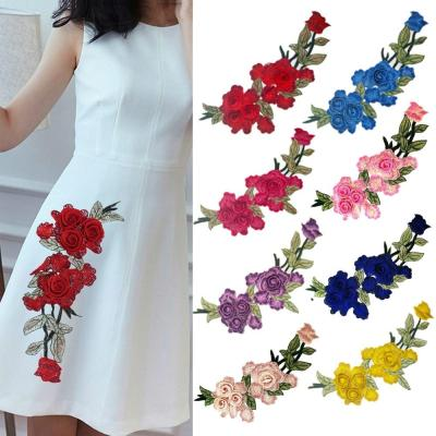 3D Flowers Embroidered Patches Sew On Appliques For Clothing Jacket Jeans Patch For Clothes Stickers Decor Patching Accessory