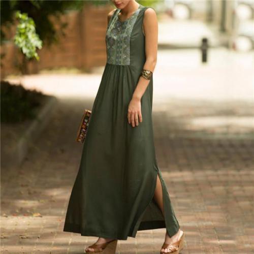 Fashion Sleeveless Printing Casual Dresses