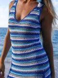 Knitting Stripes Beach Hollow Cover-up Swimwear