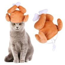 Cat Chicken Leg Cap Pet Kitten Cosplay Costumes Hat Christmas Holiday Cute Decor