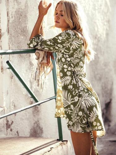 Bohemia Floral Beach Cardigan Cover-Ups