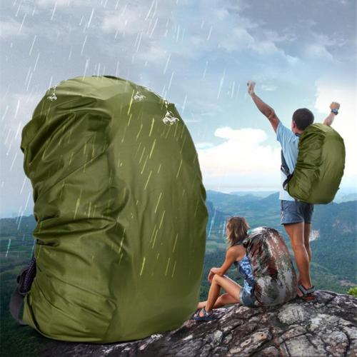 35 / 45L Adjustable Waterproof Dustproof Backpack Rain Cover Portable Ultralight Shoulder Protect Outdoor Tools Hiking Bag Cover
