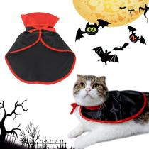 Halloween Pet Cat Dog Costumes Cute Cosplay Vampire Cloak Cape Cap Witch Cosplay Horns Role Play Clothes For Party FD