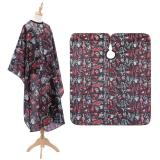 Barber Cloth Hairdressing Cloth Red Car Cactus Pattern Apron Polyester Haircut Cape Wrap Hair Styling Design Supplies Salon Gown