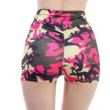 Women Yoga Shorts 2020 Feminino Hot Short Camouflage Print Athletic Summer Sports High Waist Spodenki Damskie Short Femme