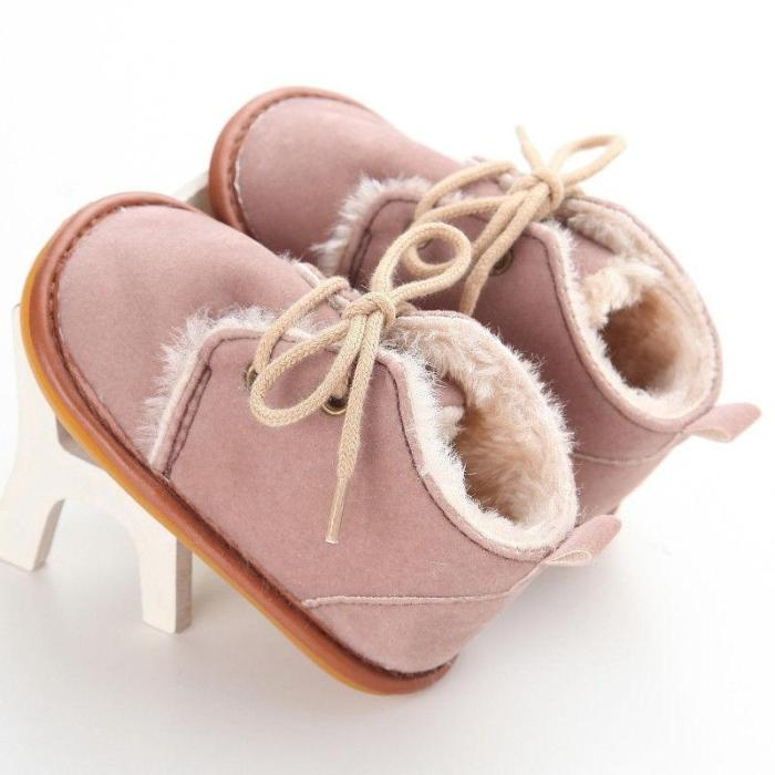2020 Brand Casual Newborn Infant Girl Boy Baby Snow Booties Fur Boots Winter Warm arrival Style little Kids Strappy Shoes 0-18M