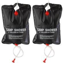 2 x 20L Camping Shower bag- Portable Solar Heated 5 Gallon/20 Litre Travel Shower bag - Black