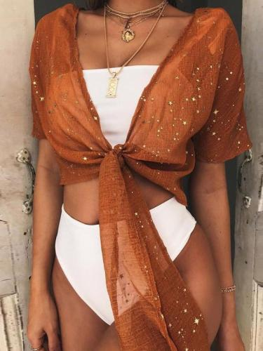 Short Sleeve Bronzing Sunscreen Cover-up