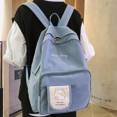 Nylon Women Cute Backpack Print Female Fashion Waterproof School Bags Student Girl Kawaii Backpacks Ladies Book Harajuku Bag New