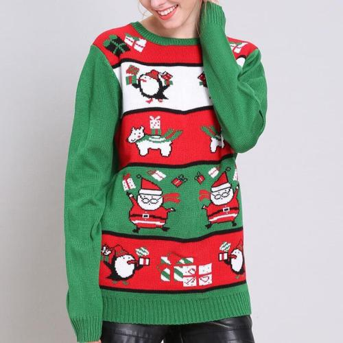 Ugly Christmas Crew Neck Knitting Sweater