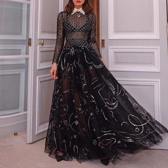 Stylish Sexy Mesh Perspective   Dress