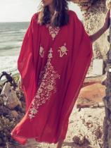 Printed Beach Kaftan Cover-up