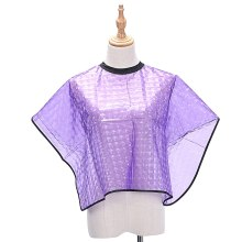 New Purple Haircut Hairdressing Barber Cloth Short Apron Polyester Hair Styling Design Supplies Salon Barber Gown Adult/Children