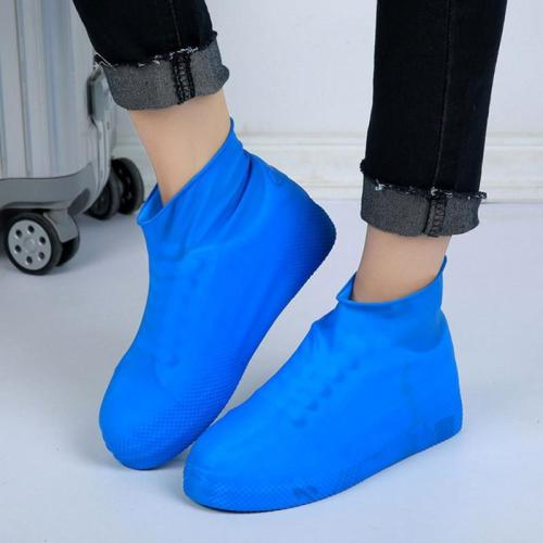 Women Men Anti-Slip Rain Boots Reusable Rubber Shoes Covers  Outdoor Waterproof Overshoes Boot Climbing Shoes Accessories
