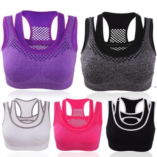 EBUYTIDE Women Sport Bra Fitness Yoga Tops Breathable Quick Dry Support Padded Bras Women Girls Gym Tops Sports bra Female Workout Bra