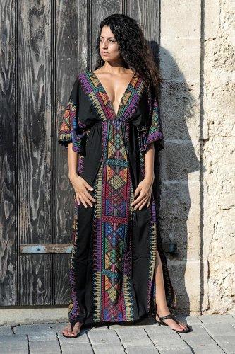 Maxi Boho  Dress, Beach Dress, Kaftan, Tribal Soul