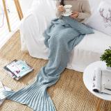 Yarn Knitted Mermaid Tail Blanket Crochet Mermaid Blanket Kids Adults Wrap Super Soft Sleeping Bed Throw Bed 1PCS/Lot