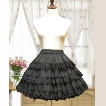 3 Layers Hoopless White/Black Lace Petticoat Women Short Petticoats A Line underskirt Bridal crinoline Petticoat 2020