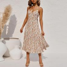 Fashion suspender dress pajamas elegant dress