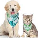Pet Bandana for Dog & Cat Rainforest Flamingo Printing Style Pet Bibs Adjustable Dog Cat Bandanas for Gift /Photo Shot/ Party