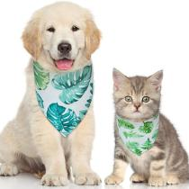 Pet Bandana for Dog & Cat Rainforest Flamingo Printing Style Pet Bibs Adjustable Dog Cat Bandanas for Gift /Photo Shot/ Party