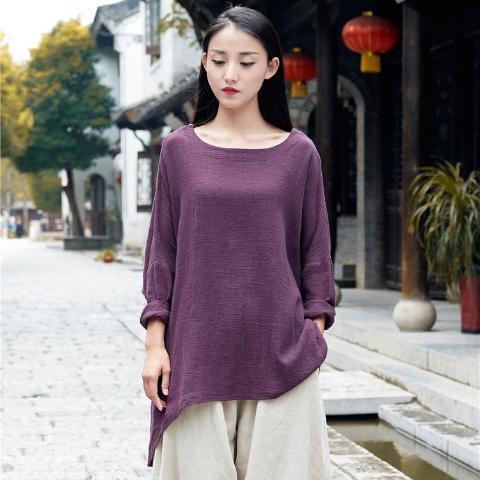 Purple Linen Shirt
