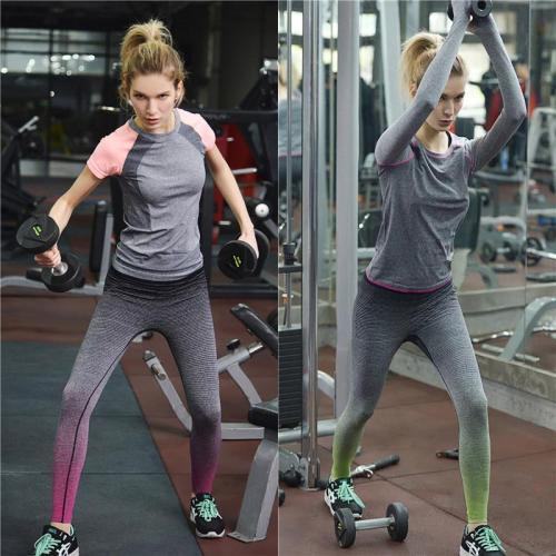 Low Waist Skinny Gradient Long Yoga Sport Leggings