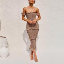 Leopard print Sexy Ruffled Dress Layered Dress