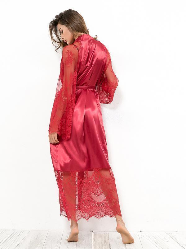 Lace Bandage Long Sleeve Cover-up Swimwear