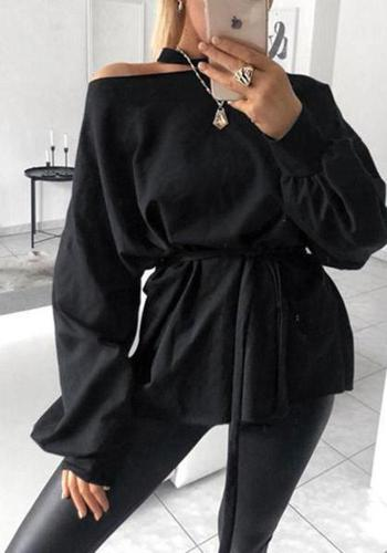 Sexy Off Shoulder Strapless Long Sleeve Shirt