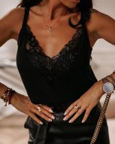 V Neck Lace Cami Top