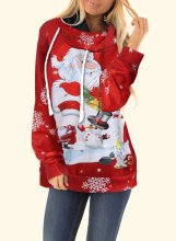 Red Santa Christmas Hoodies