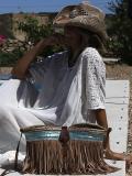 White Hollow Split-joint Maxi Dress